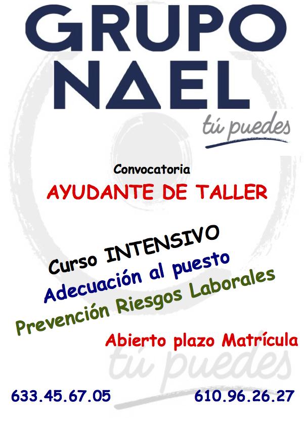 CONVOCATORIA AYUDANTE DE TALLER