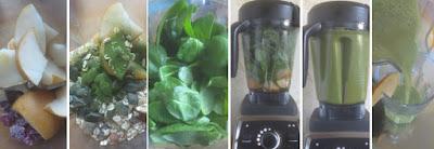 Zubereitung Grüner Smoothie mit Babyspinat und Nashi