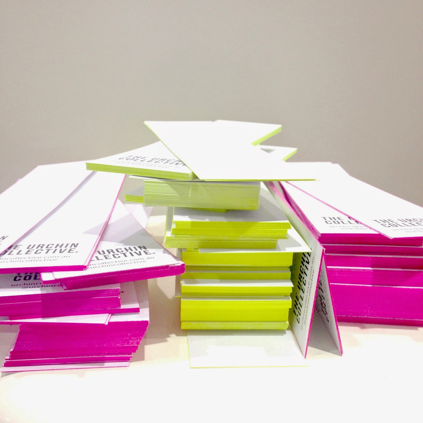 The Urchin Collective: DIY Colour Edge Business Cards