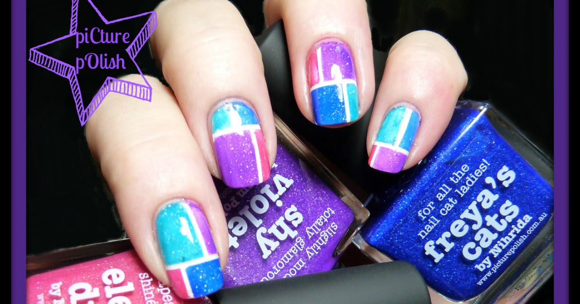 Nail of the Day: Colorblocking with piCture pOlish