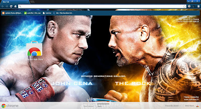 Wrestlemania 2012 Google Chrome Theme