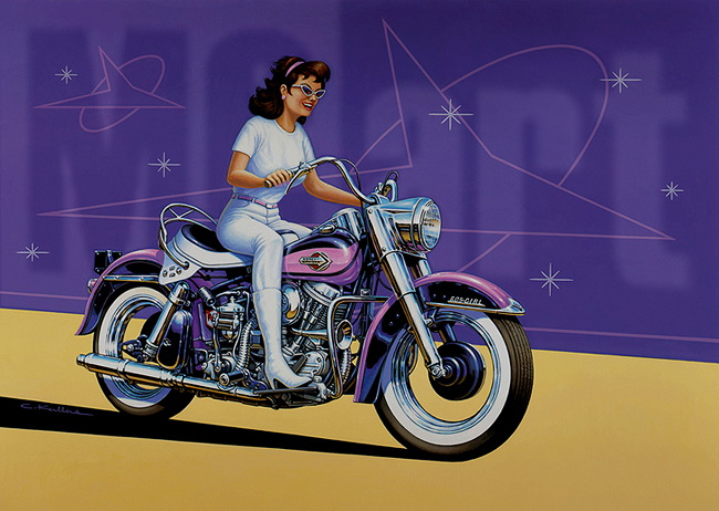 Dessins - Page 3 1960-Harley-Duo-Glide-Girl