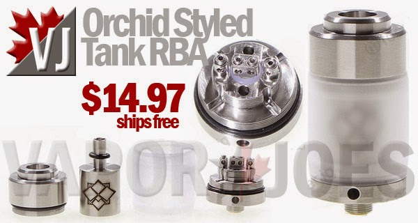 Orchid Styled Tank Gravity-Fed Rebuildable Atomizer