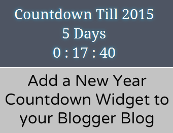 Add a New Year Countdown Widget to your Blog