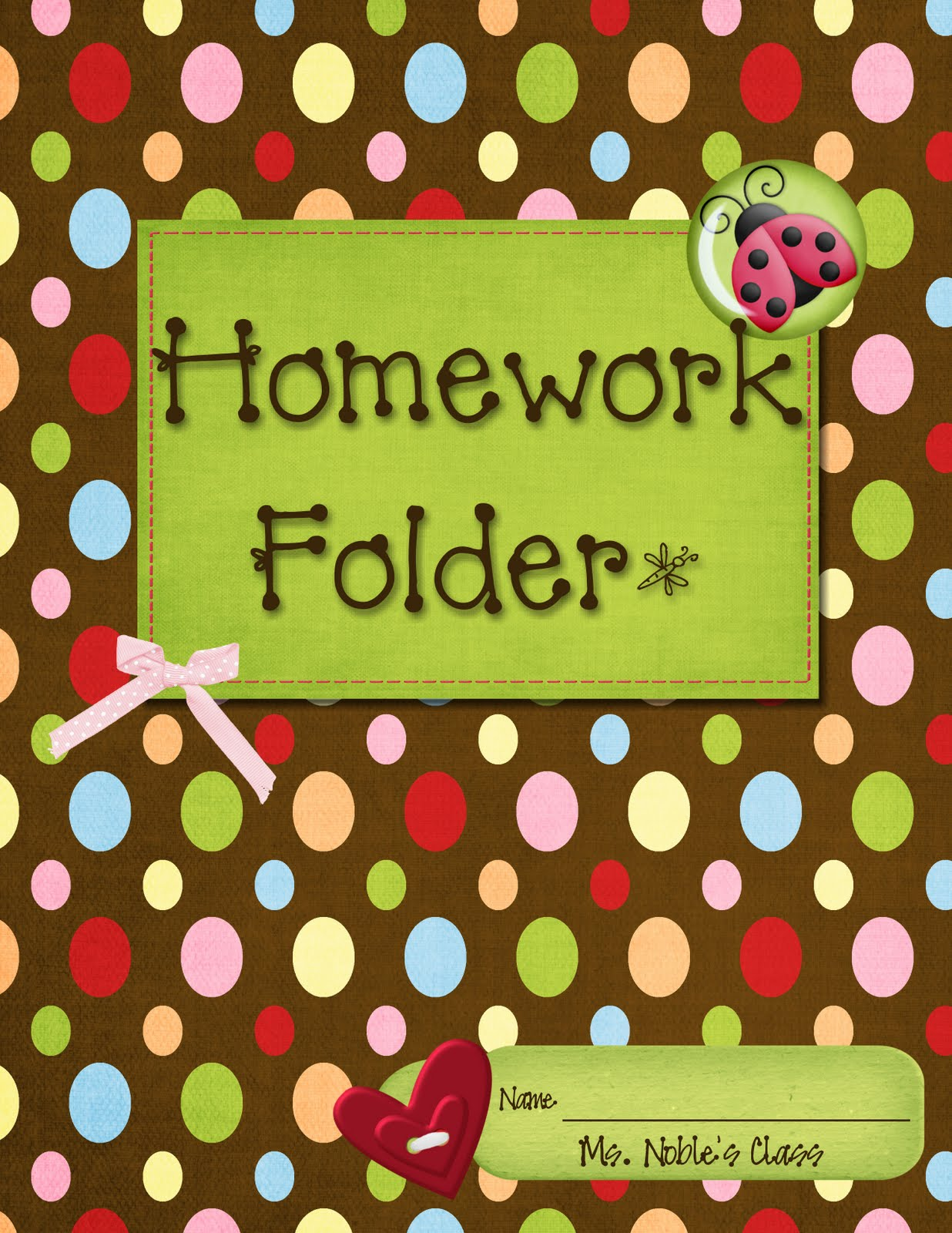 Homework book cover