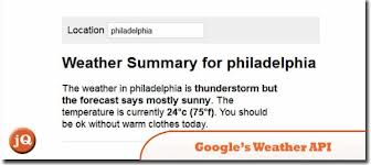 7. Using Google's Weather API