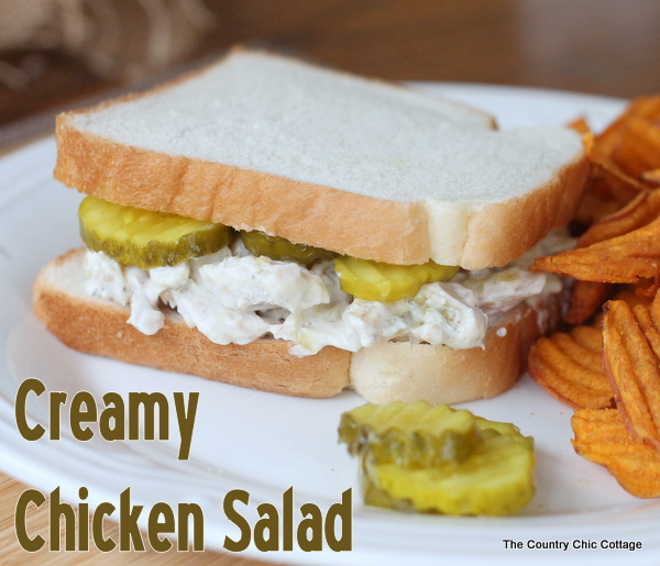 creamy chicken salad recipe lunch sandwich