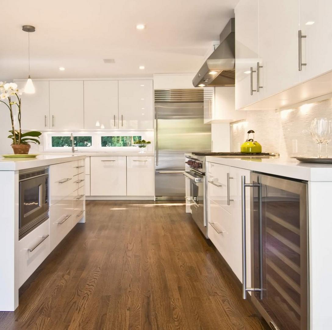 Cómo coordinar las cocinas blancas  How to coordinate white kitchens