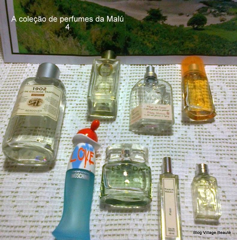 COLEÇAO DE PERFUMES DA MALÚ