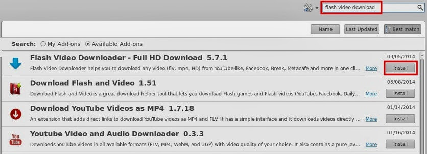 trik download video streaming youtube dengan addon