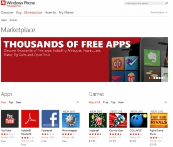Windows Phone Web Marketplace Available for International
