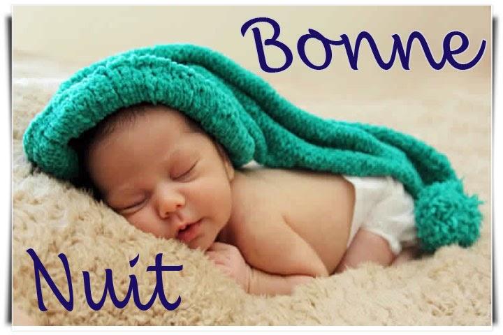 Photo bébé pour dire bonne nuit