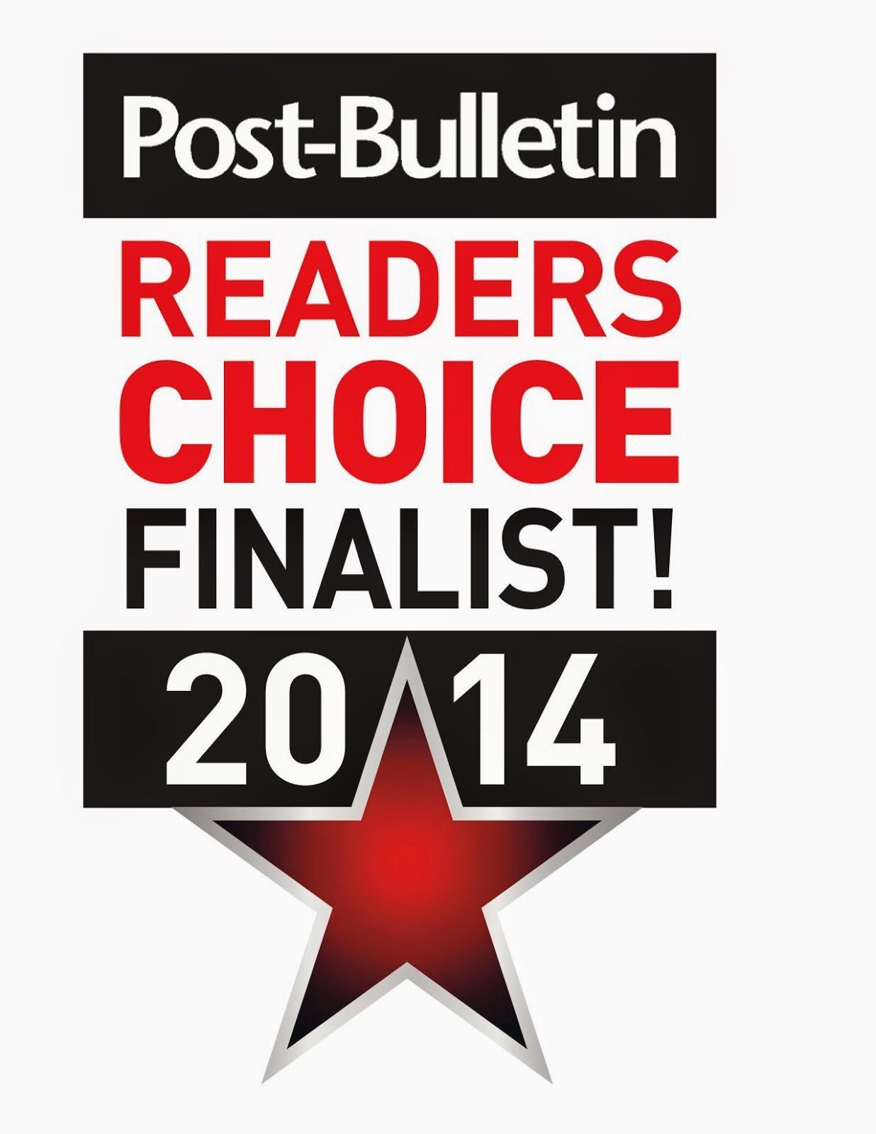 2014 Readers Choice Award!