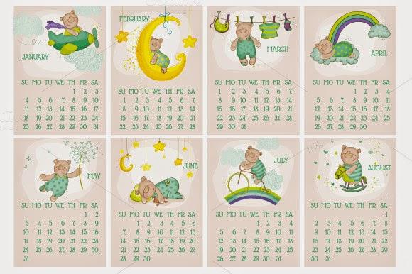 https://creativemarket.com/AnnaSivak/98273-Baby-Bear-Calendar-2015