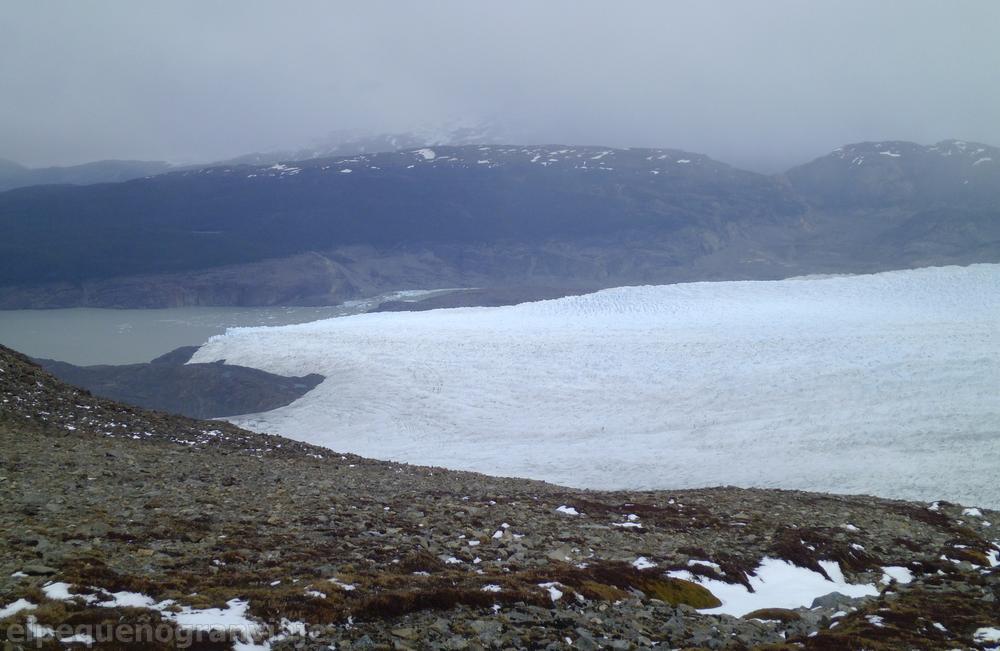 Torres del Paine, paso John Gardner, Glaciar Grey