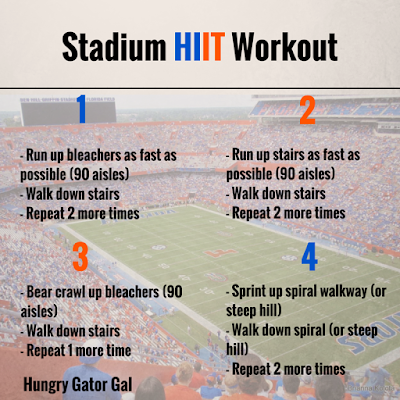 Stadium HIIT Workout from Hungry Gator Gal