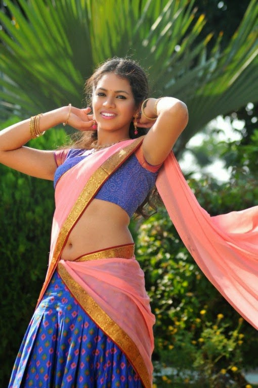 Actress Gauthami Chowdary Latest Cute Hot Saree Navel Show Spicy Photos Gallery