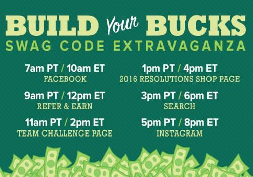 Swagbucks Build Your Bucks Swag Code Extravanganza