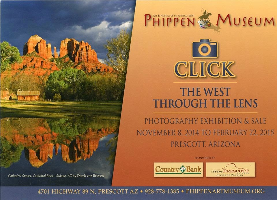 Invitation for The West Through the Lens Exhibition featuring Raechel Running