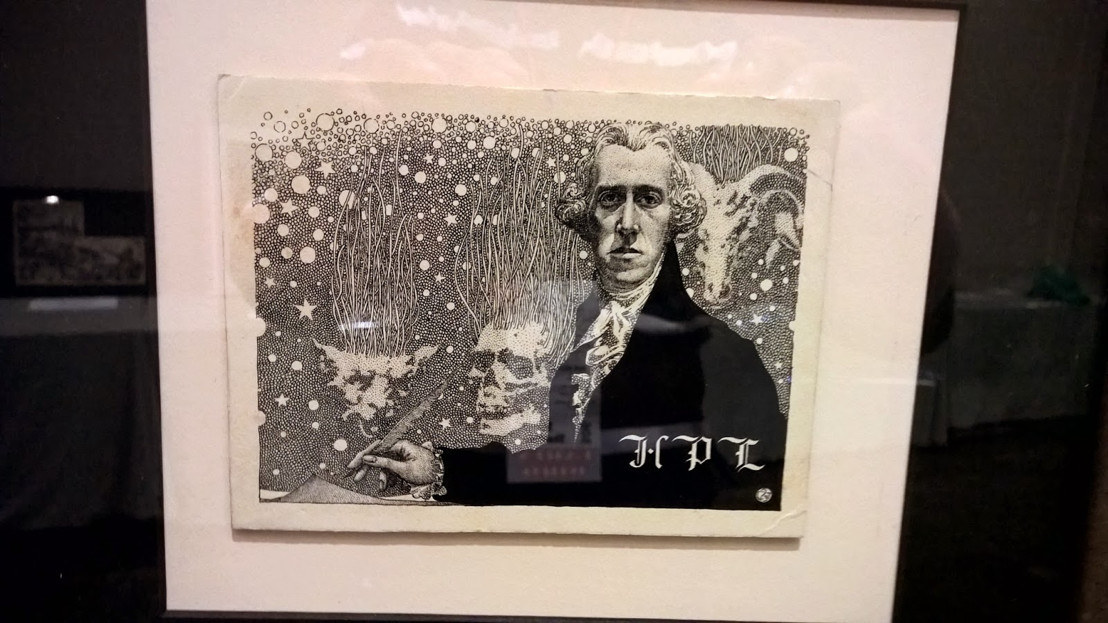H.P. Lovecraft portrait by Virgil Finlay