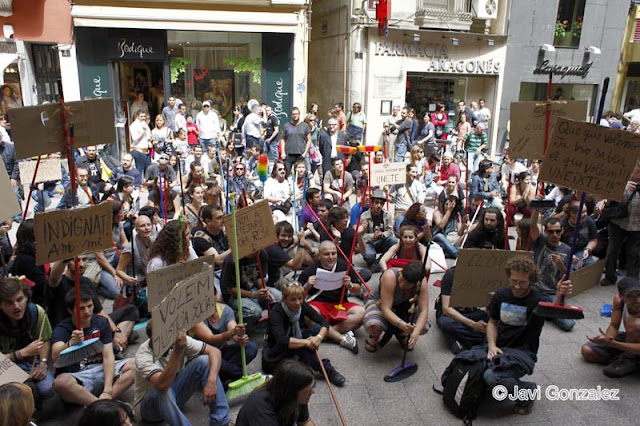 manifestaciones, demonstrations, Lleida,