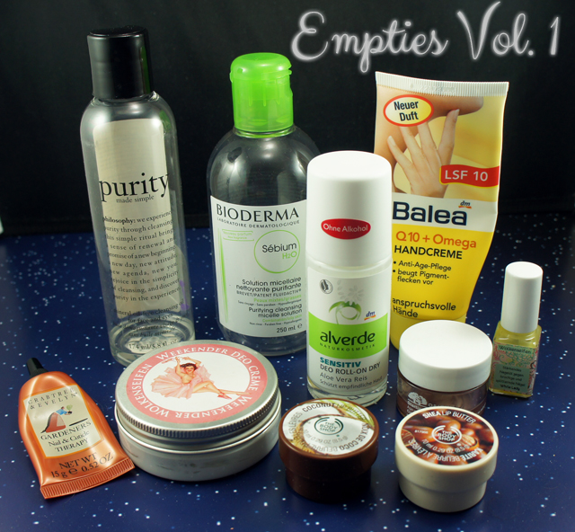 empty products face body hands
