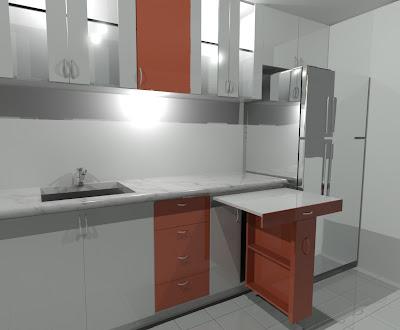 Akire design cocina blanco y rojo - Aki mesas cocina ...