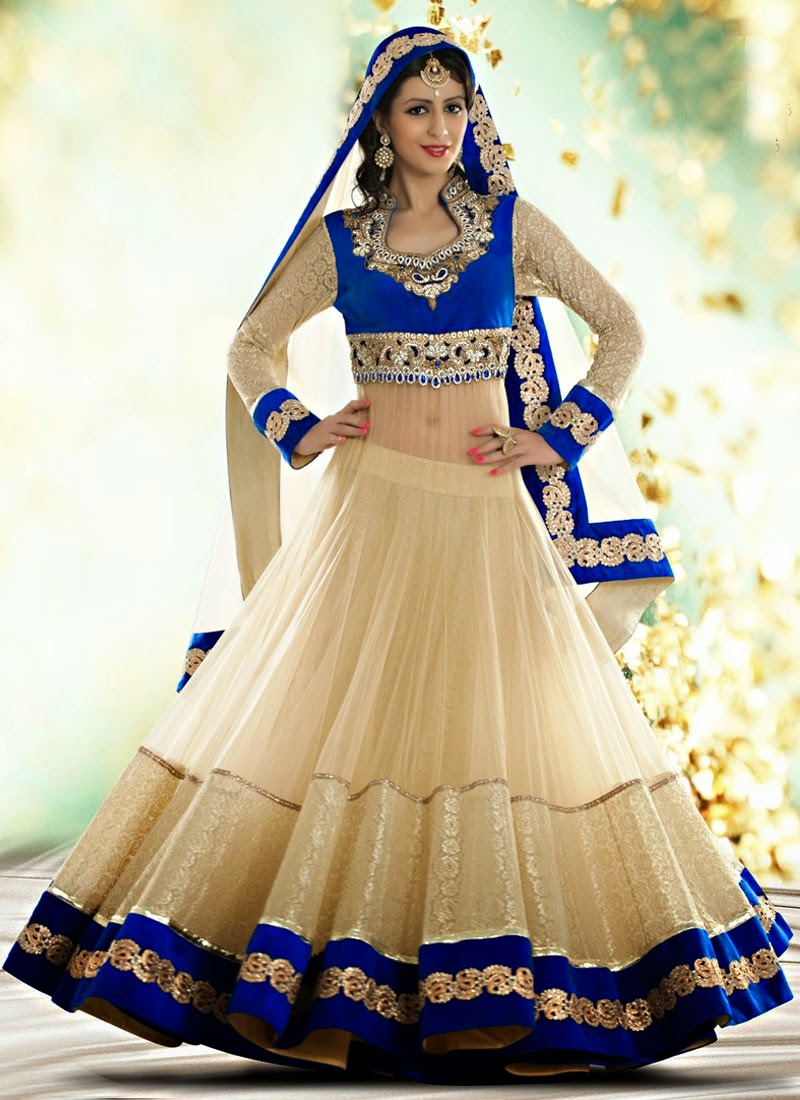 Here We Have The Indian Royal Wedding Wear Long Anarkali Dresses 2014 CollectionAnarkali Are One Of More Traditional Clothing For Women