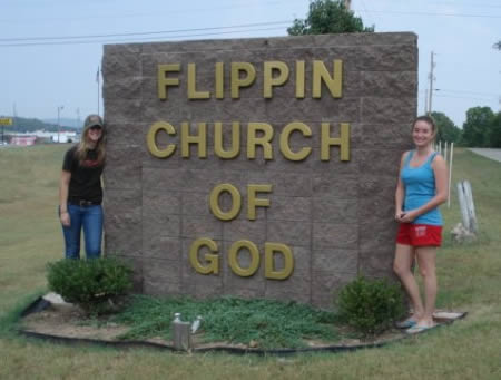 Flippin Church, somewhere in Arkansas.