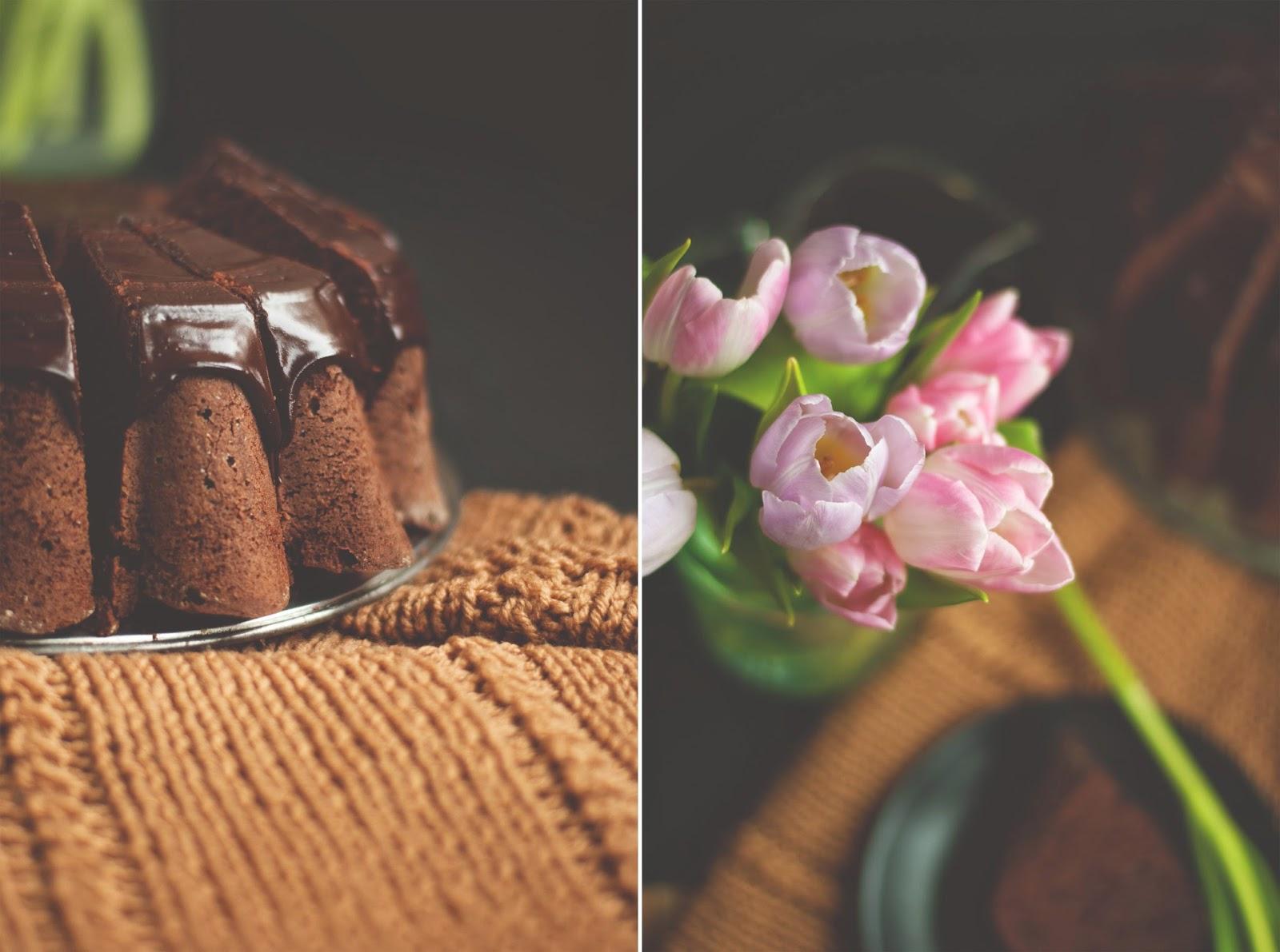 Kawowa babka z polewą czekoladową