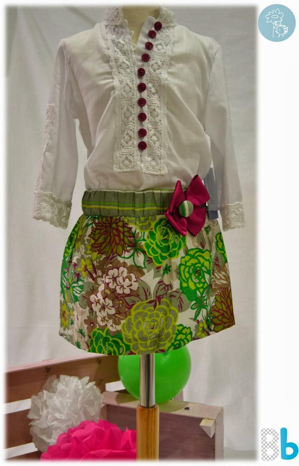 Babiné -Colección Primavera-Verano- conjunto falda y camisa
