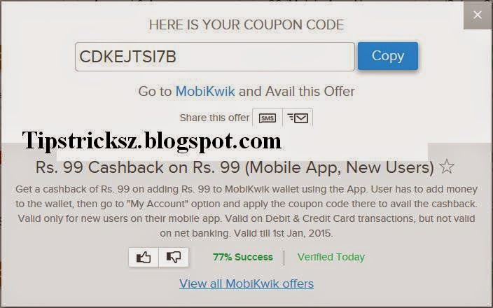 Mobikwik coupons for airtel users