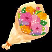 花束・ブーケのイラスト