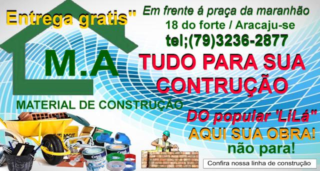M.A  MATERIAL DE CONSTRUÇÃO ARACAJU SERGIPE