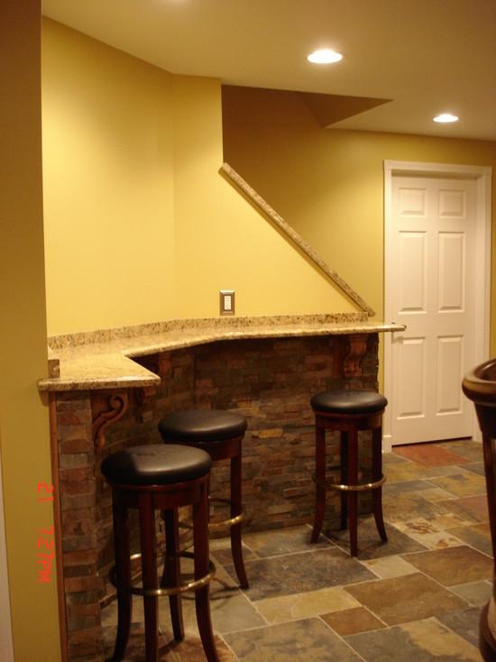 finished basement traditional basement detroit