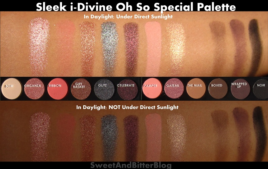 Sleek Idivine Oh So Special Swatches And Review Sweet