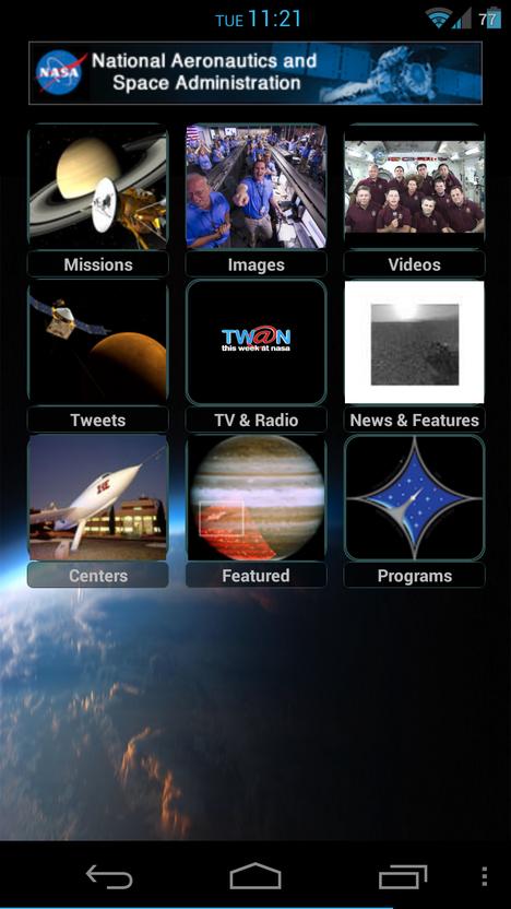 Curiosity NASA-App