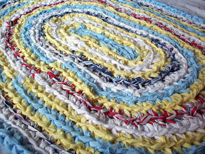 goodwill sheets into diy rag rug