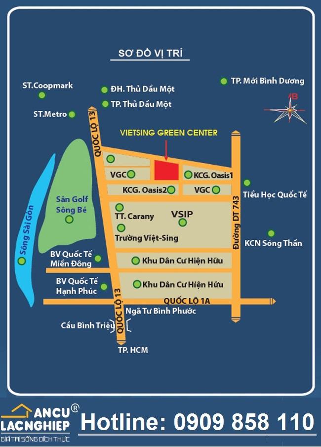 Mở bán Block mới Dat nen Viet Sing, giá gốc Becamex, vị trí trung tâm VSIP 1