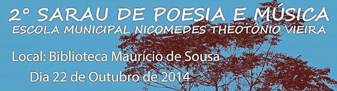 II Sarau de poesia e música da Biblioteca Maurício de Sousa
