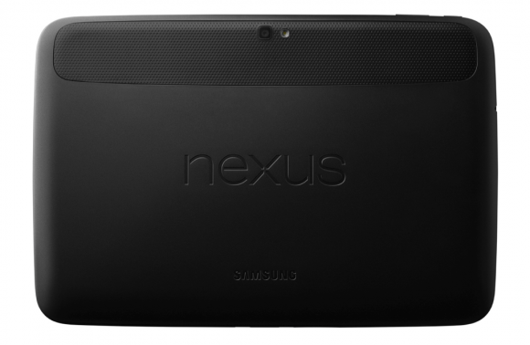 The back of Nexus 10