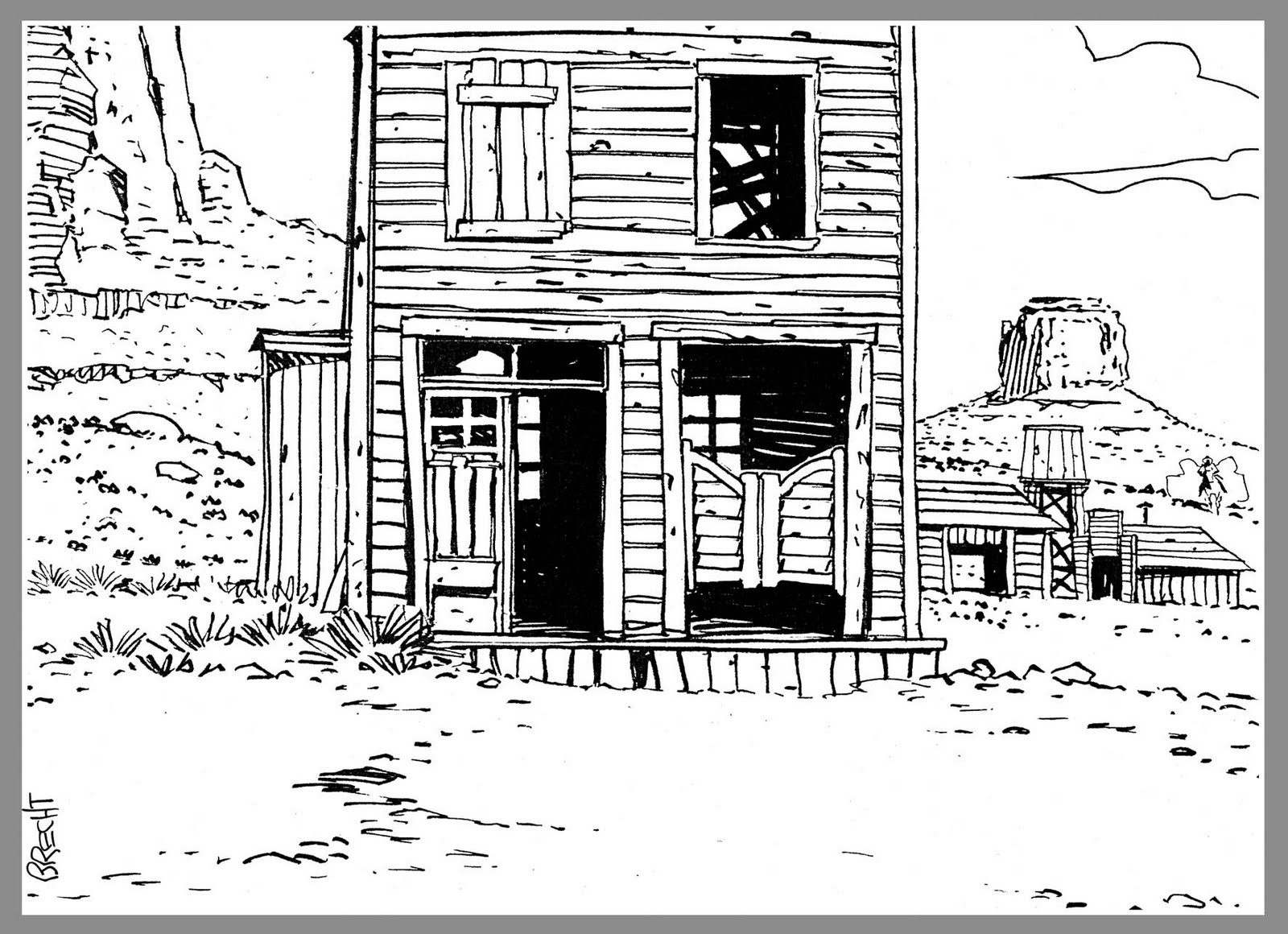 Westernblues le vieux saloon - Dessin saloon ...