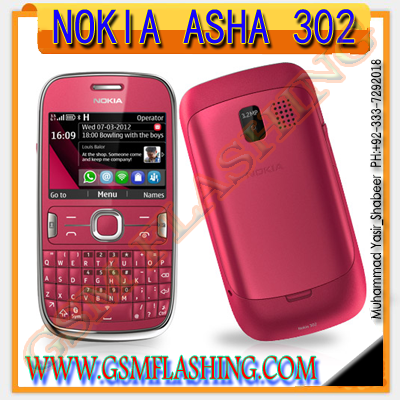 NOKIA Asha 302 RM-813 LATAST Version 14.92 Urdu & English Flash Files
