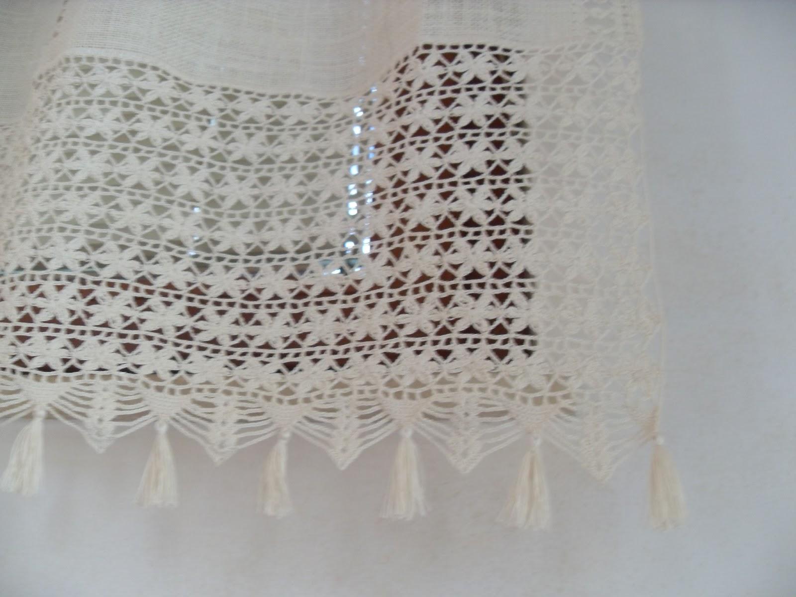 Piccoli lavori tenda con hardanger merletto all 39 uncinetto - Immagini di tende per cucina ...