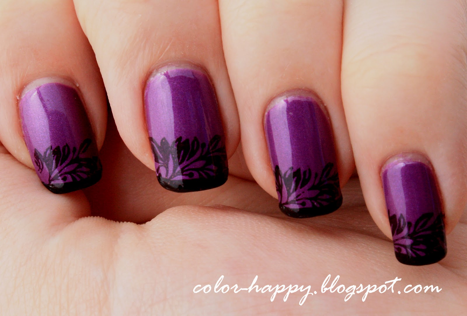 Color Happy Nails 31 Day Nail Art Challenge Day 6 Purple