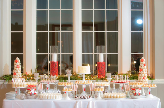 Festive Holiday Dessert Table by Cocoa & Fig