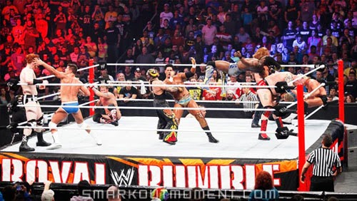 WWE Royal Rumble 2014 Match Eliminations