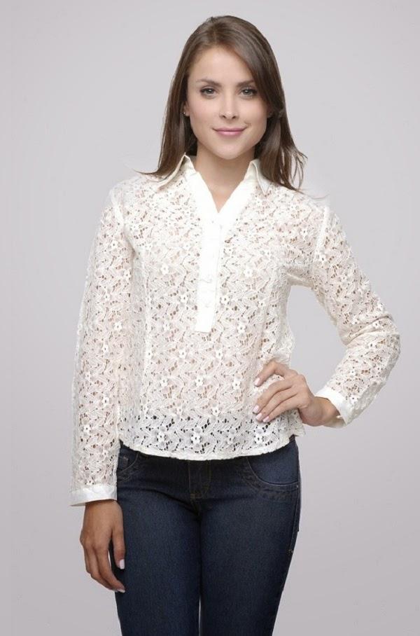 camisas femininas  cor branca 1