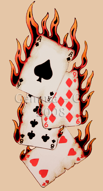 playing cards tattoo designs photos ideas lifestyles. Black Bedroom Furniture Sets. Home Design Ideas