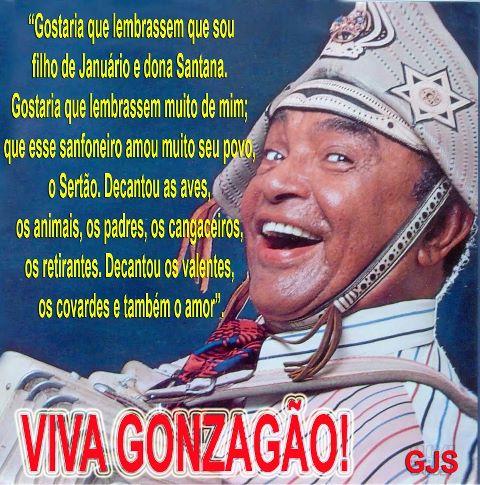 frases de luiz gonzaga; Gostaria que lembrassem que sou filho de januário e dona santana | Mensagens para facebook